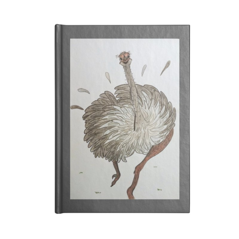 Jogging Ostrich Accessories Notebook by Whimsical Wildlife Wares
