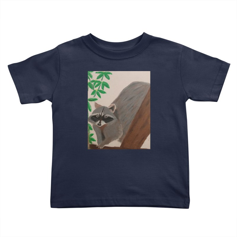 Raccoon Kids Toddler T-Shirt by Whimsical Wildlife Wares