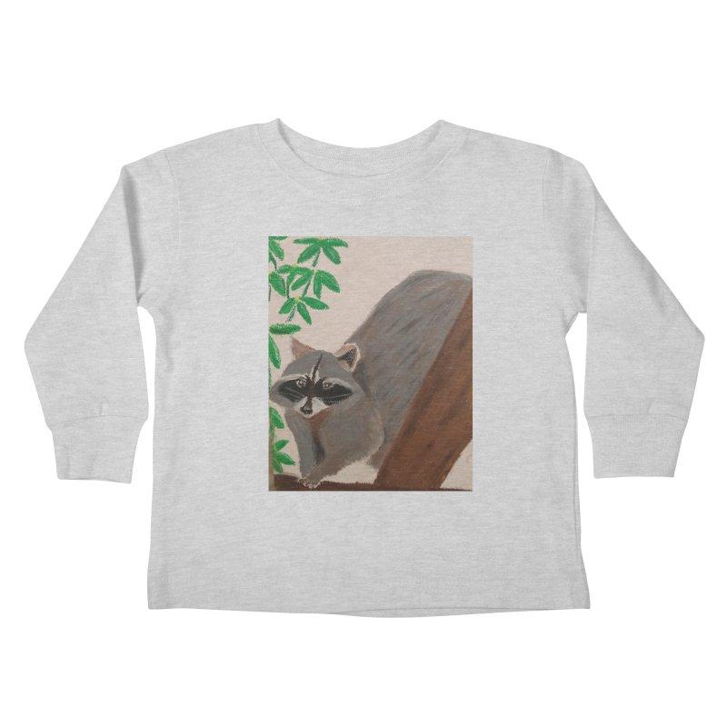 Raccoon Kids Toddler Longsleeve T-Shirt by Whimsical Wildlife Wares