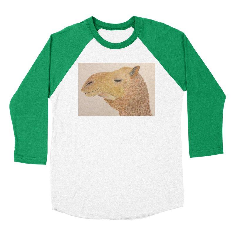 Camel Women's Baseball Triblend T-Shirt by Whimsical Wildlife Wares