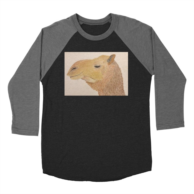 Camel Men's Baseball Triblend T-Shirt by Whimsical Wildlife Wares