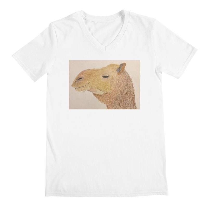 Camel Men's V-Neck by Whimsical Wildlife Wares