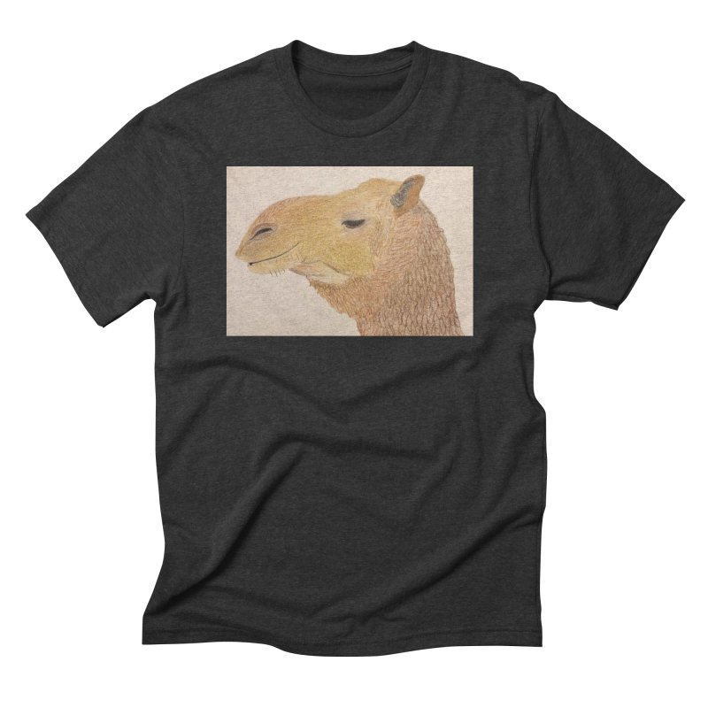 Camel Men's Triblend T-shirt by Whimsical Wildlife Wares