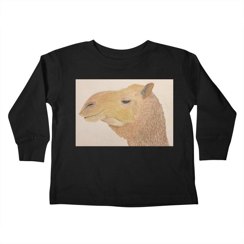 Camel Kids Toddler Longsleeve T-Shirt by Whimsical Wildlife Wares