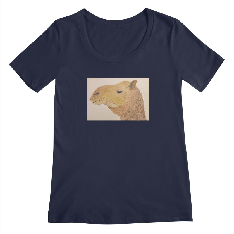 Camel Women's Scoopneck by Whimsical Wildlife Wares