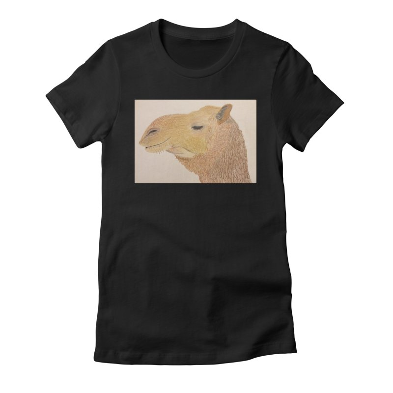 Camel Women's Fitted T-Shirt by Whimsical Wildlife Wares