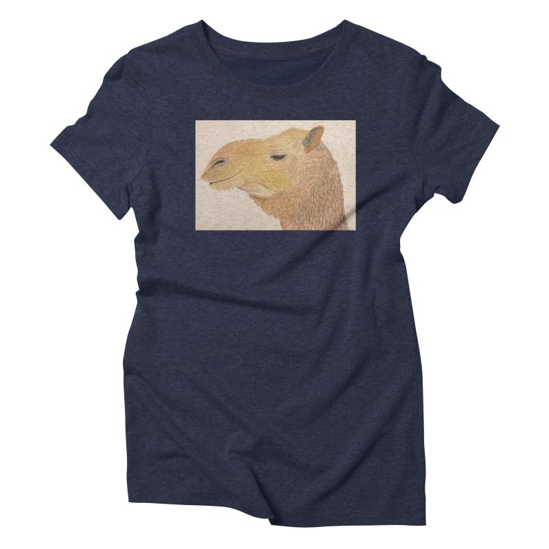 Camel Women's Triblend T-shirt by Whimsical Wildlife Wares