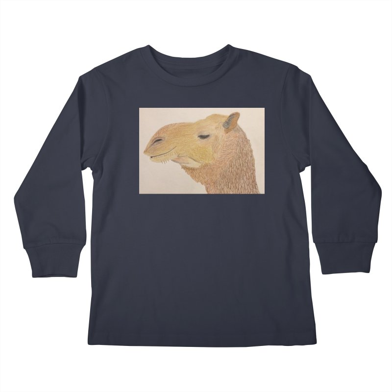Camel Kids Longsleeve T-Shirt by Whimsical Wildlife Wares