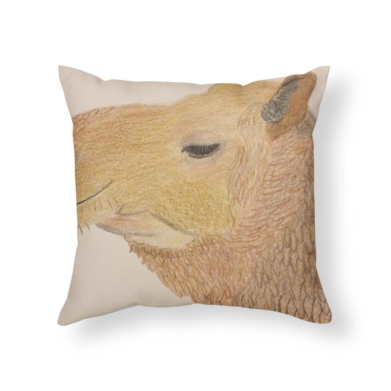 Camel Home Throw Pillow by Whimsical Wildlife Wares