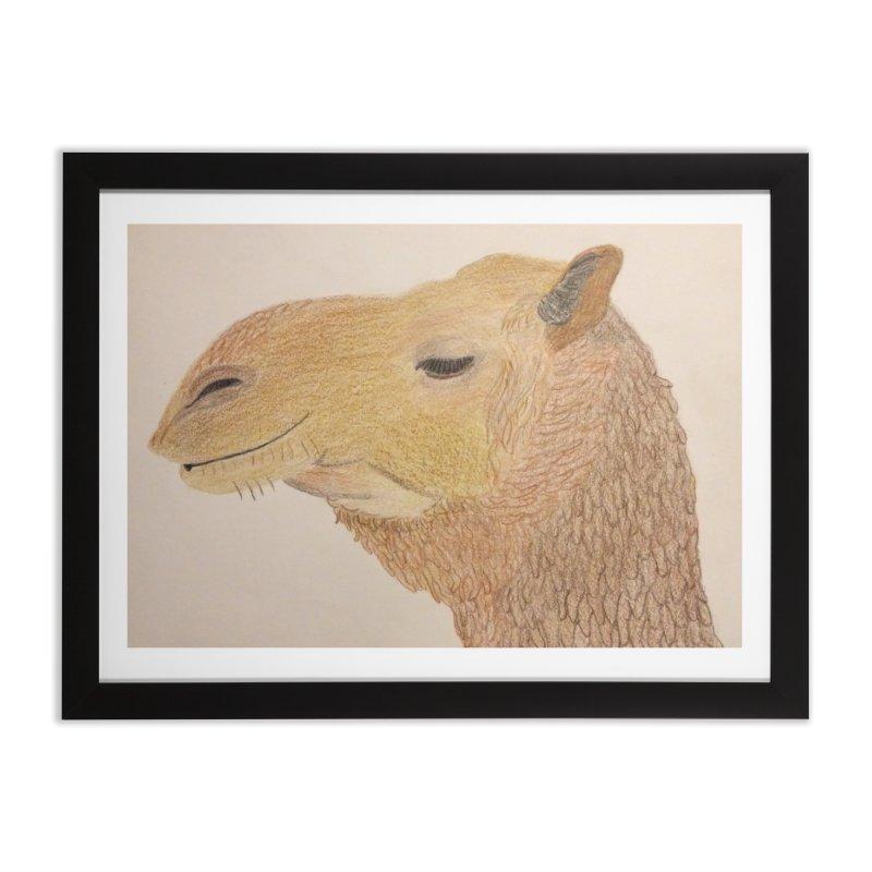 Camel Home Framed Fine Art Print by Whimsical Wildlife Wares