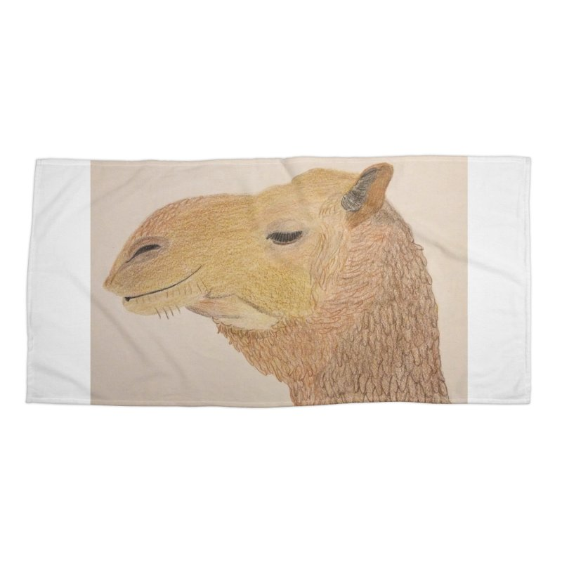 Camel Accessories Beach Towel by Whimsical Wildlife Wares