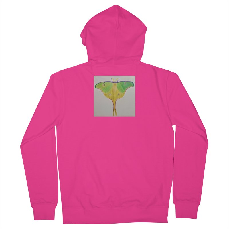 Luna Moth Men's Zip-Up Hoody by Whimsical Wildlife Wares