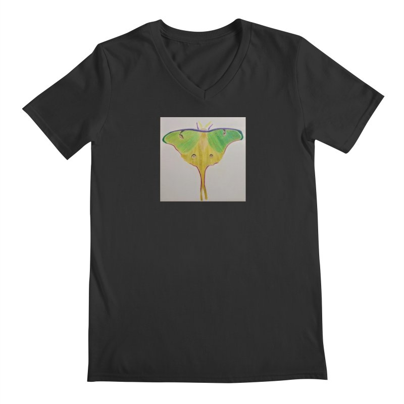 Luna Moth Men's V-Neck by Whimsical Wildlife Wares
