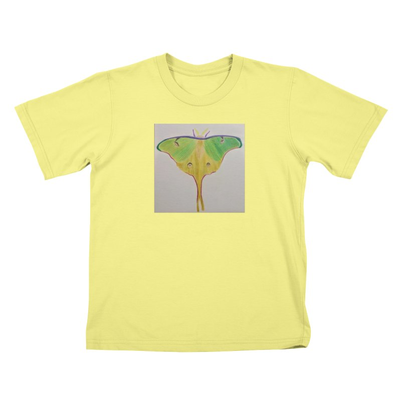 Luna Moth Kids T-shirt by Whimsical Wildlife Wares