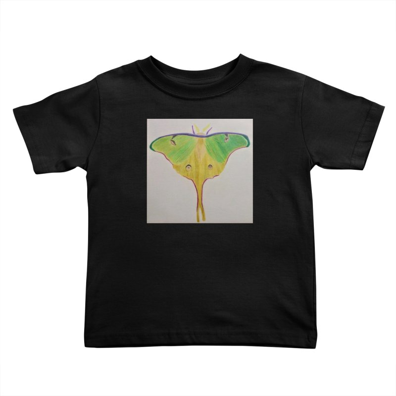 Luna Moth Kids Toddler T-Shirt by Whimsical Wildlife Wares