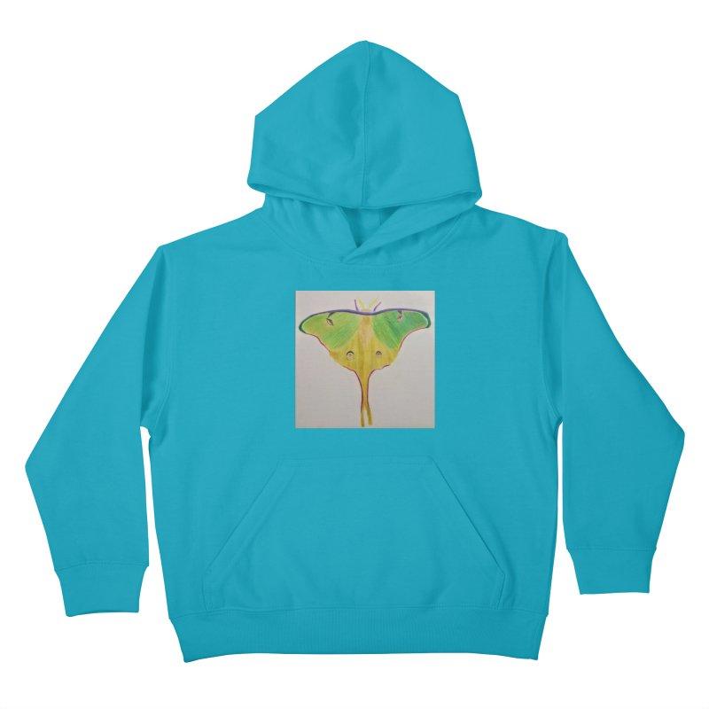 Luna Moth Kids Pullover Hoody by Whimsical Wildlife Wares