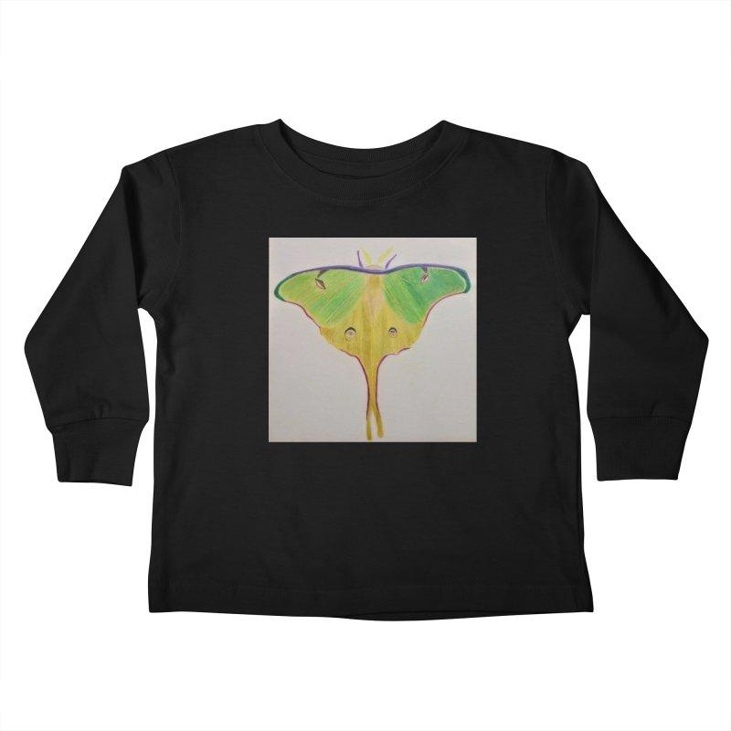 Luna Moth Kids Toddler Longsleeve T-Shirt by Whimsical Wildlife Wares