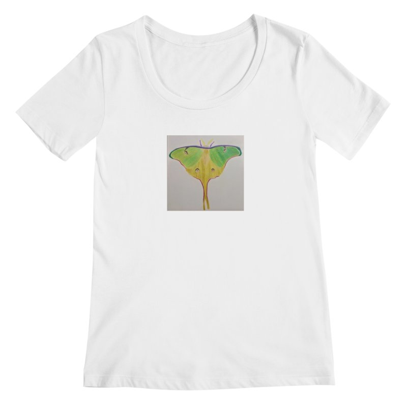 Luna Moth Women's Scoopneck by Whimsical Wildlife Wares