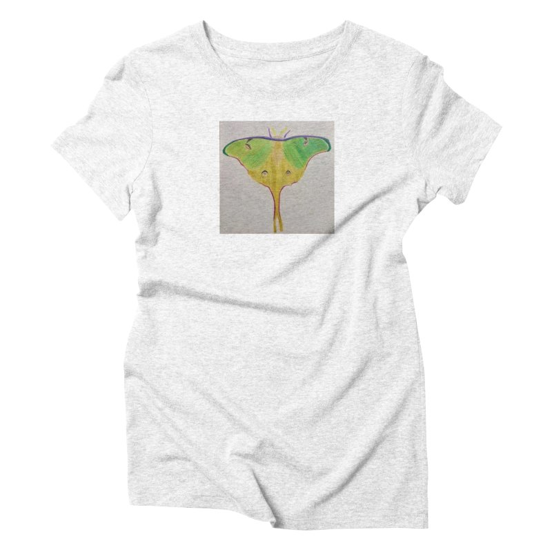 Luna Moth Women's Triblend T-shirt by Whimsical Wildlife Wares