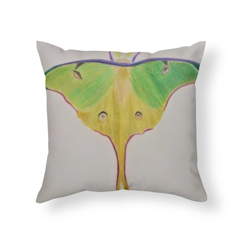 Luna Moth Home Throw Pillow by Whimsical Wildlife Wares