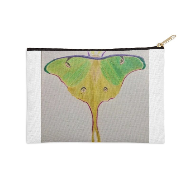 Luna Moth Accessories Zip Pouch by Whimsical Wildlife Wares