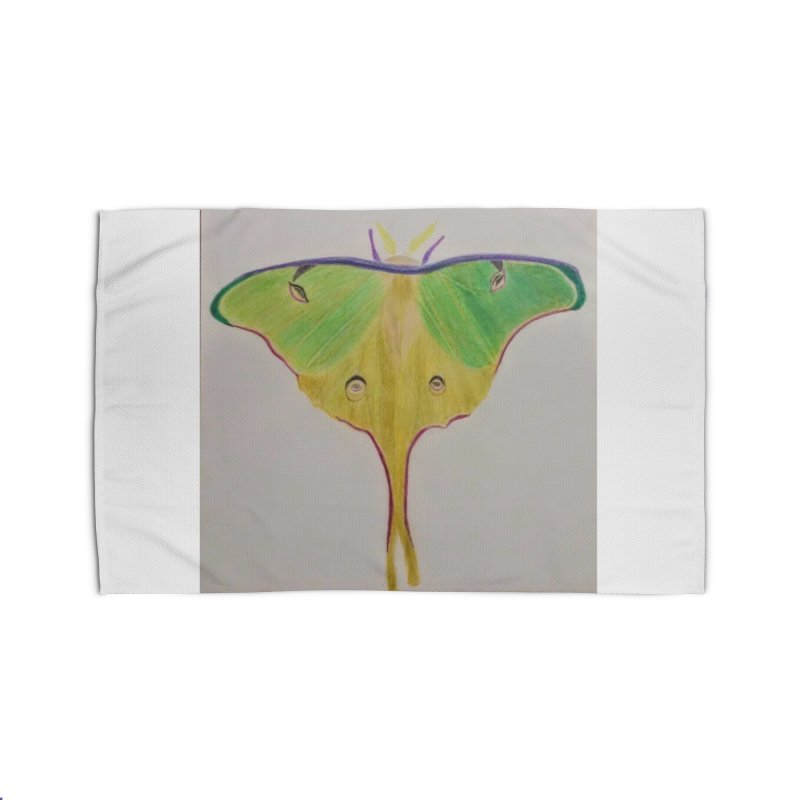 Luna Moth Home Rug by Whimsical Wildlife Wares