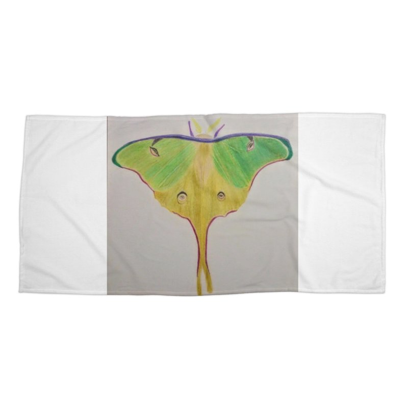 Luna Moth Accessories Beach Towel by Whimsical Wildlife Wares