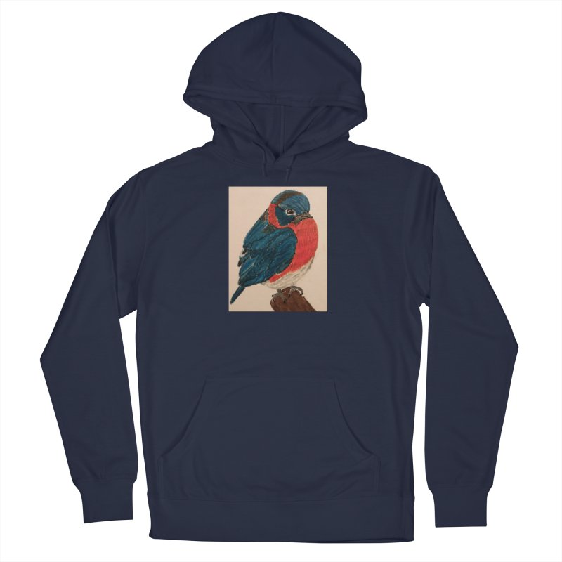 Grumpy Bluebird Women's Pullover Hoody by Whimsical Wildlife Wares