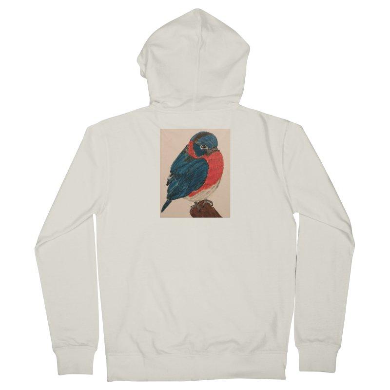 Grumpy Bluebird Women's Zip-Up Hoody by Whimsical Wildlife Wares