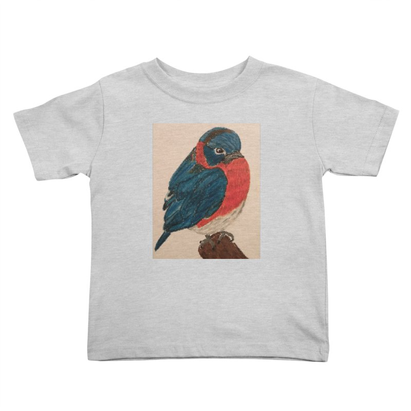 Grumpy Bluebird Kids Toddler T-Shirt by Whimsical Wildlife Wares