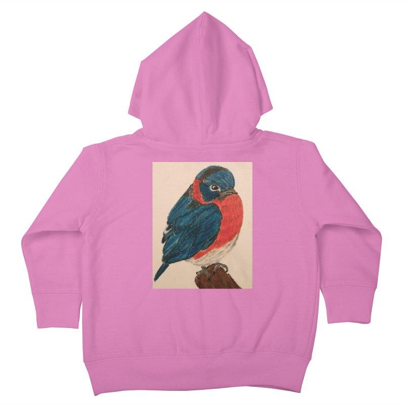 Grumpy Bluebird Kids Toddler Zip-Up Hoody by Whimsical Wildlife Wares
