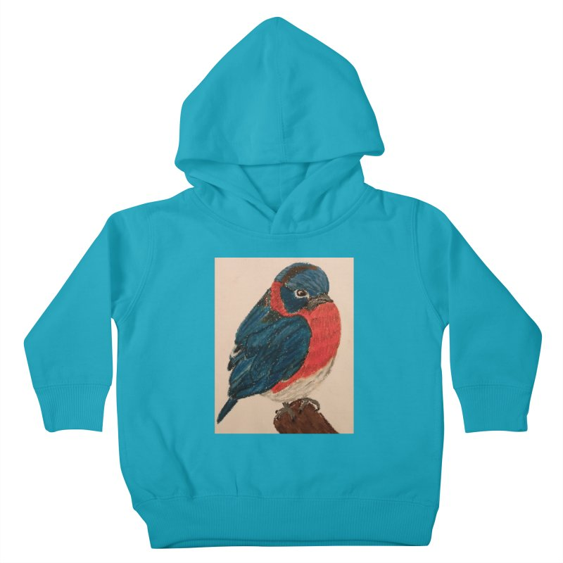 Grumpy Bluebird Kids Toddler Pullover Hoody by Whimsical Wildlife Wares