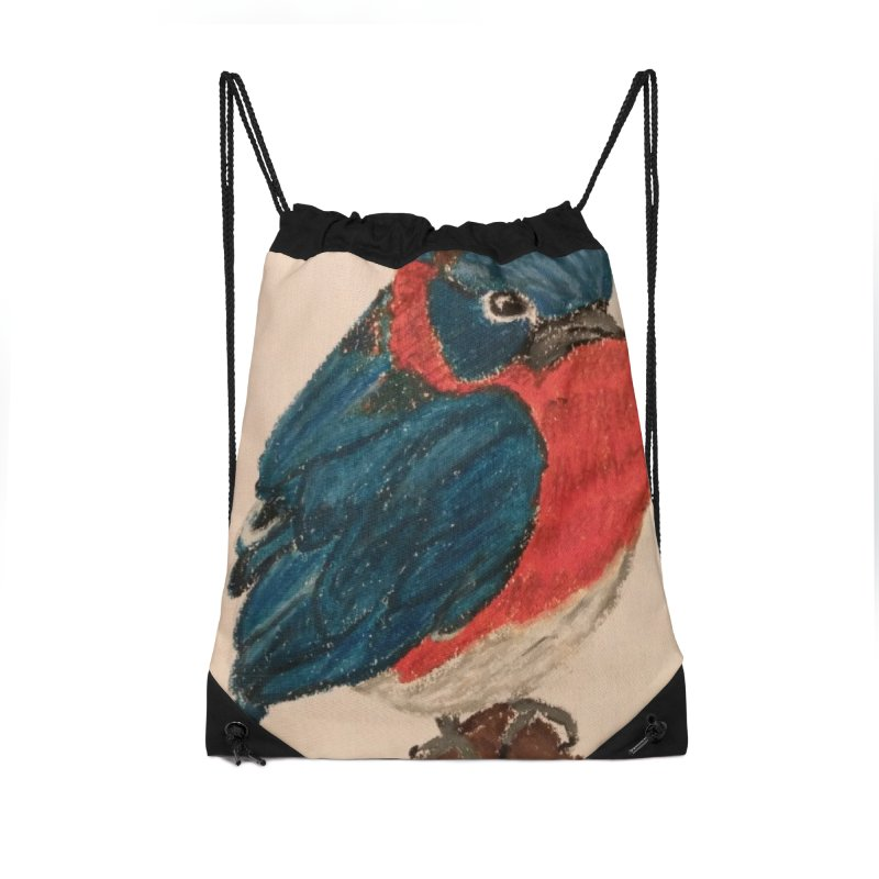 Grumpy Bluebird Accessories Bag by Whimsical Wildlife Wares