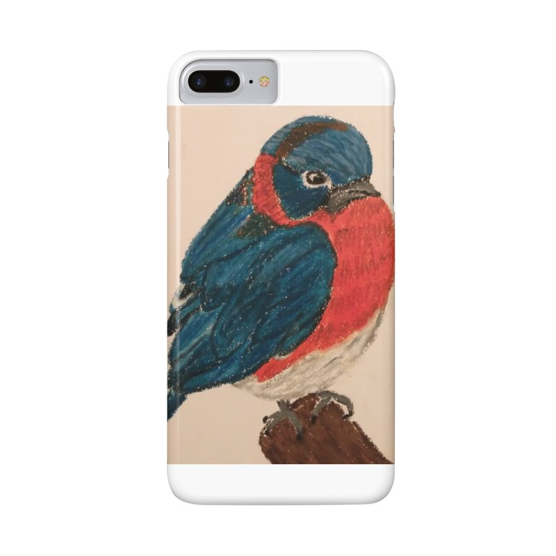 Grumpy Bluebird Accessories Phone Case by Whimsical Wildlife Wares