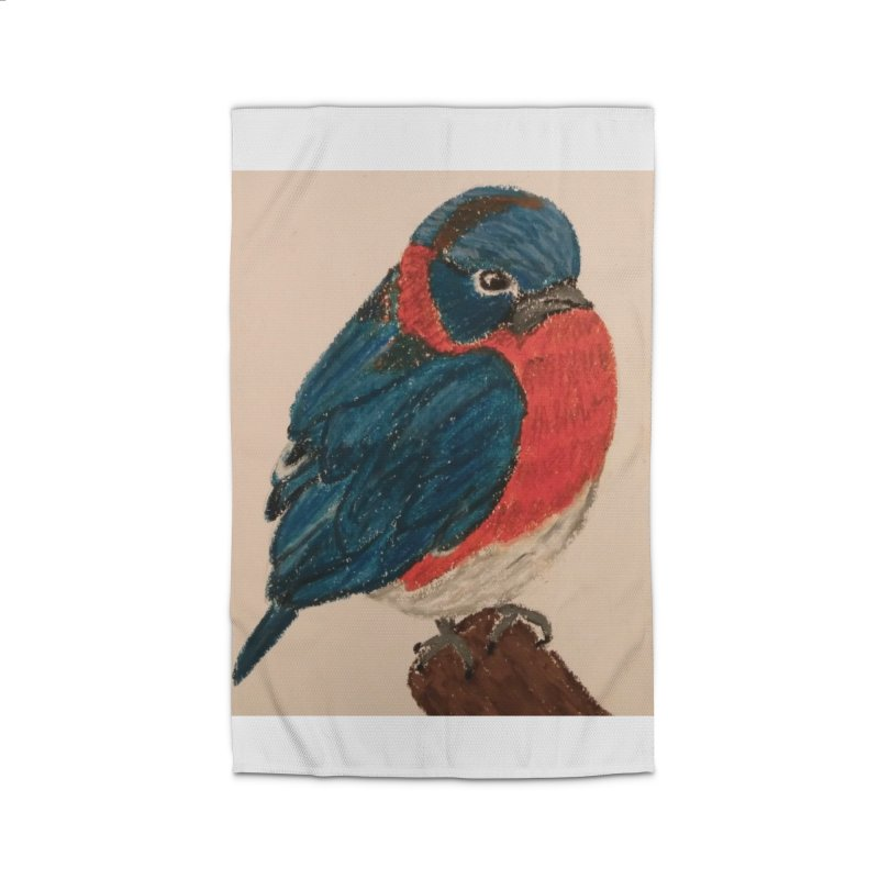 Grumpy Bluebird Home Rug by Whimsical Wildlife Wares