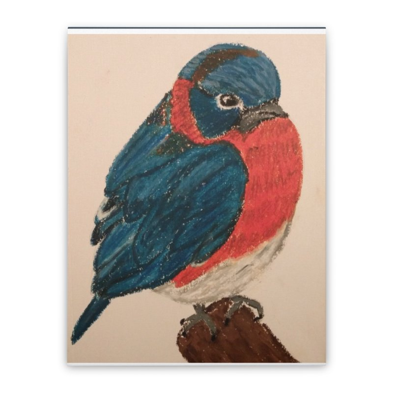 Grumpy Bluebird Home Stretched Canvas by Whimsical Wildlife Wares