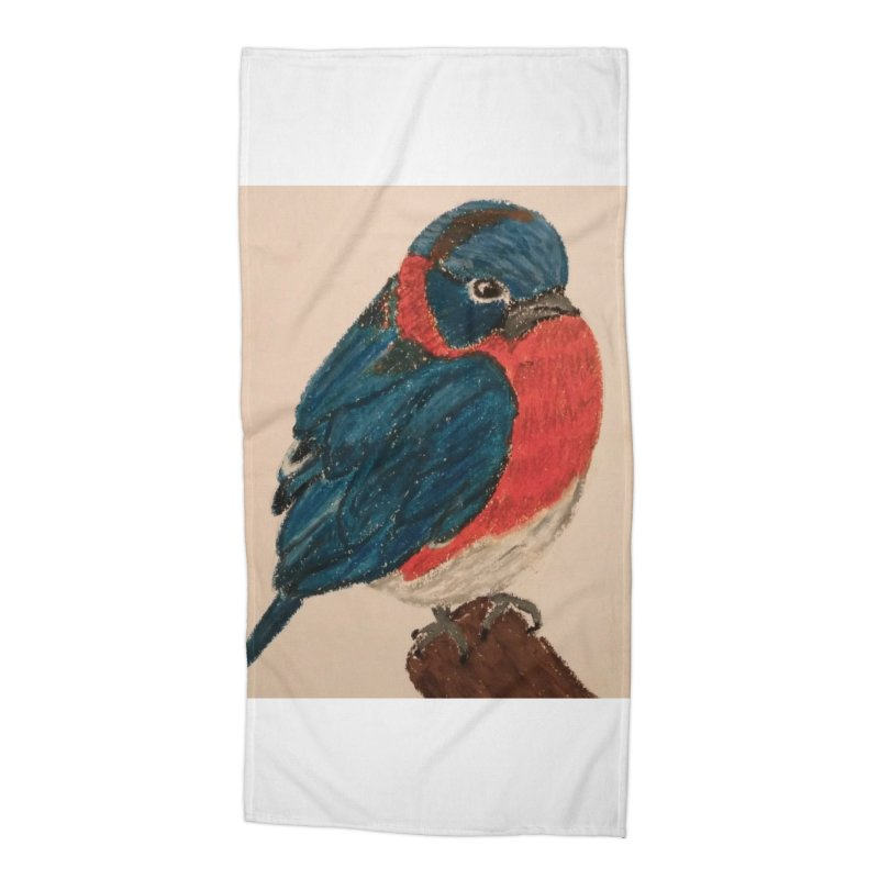 Grumpy Bluebird Accessories Beach Towel by Whimsical Wildlife Wares