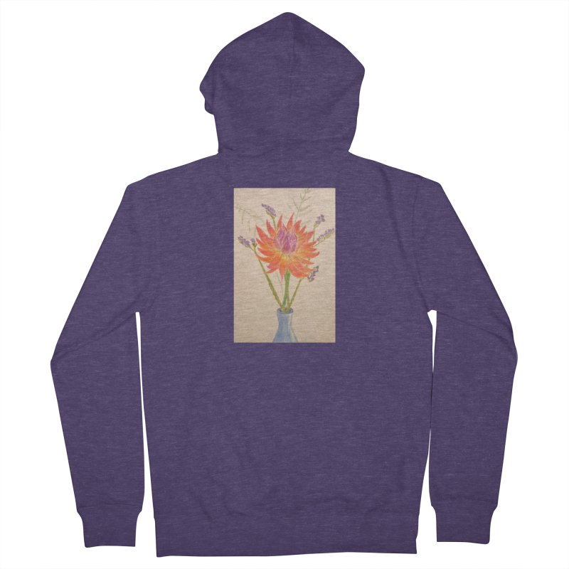 Flowers Men's Zip-Up Hoody by Whimsical Wildlife Wares