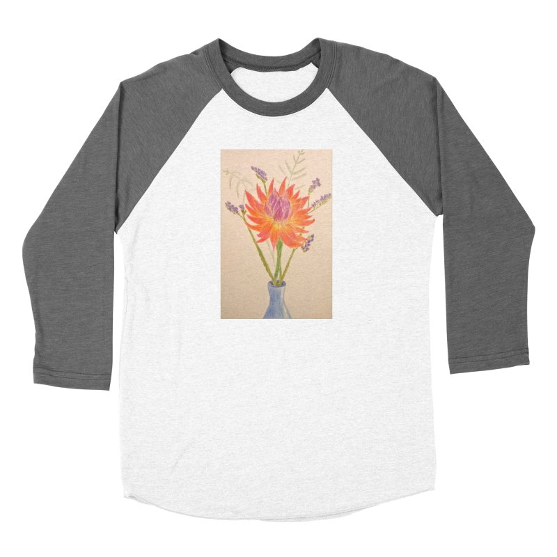 Flowers Women's Baseball Triblend T-Shirt by Whimsical Wildlife Wares