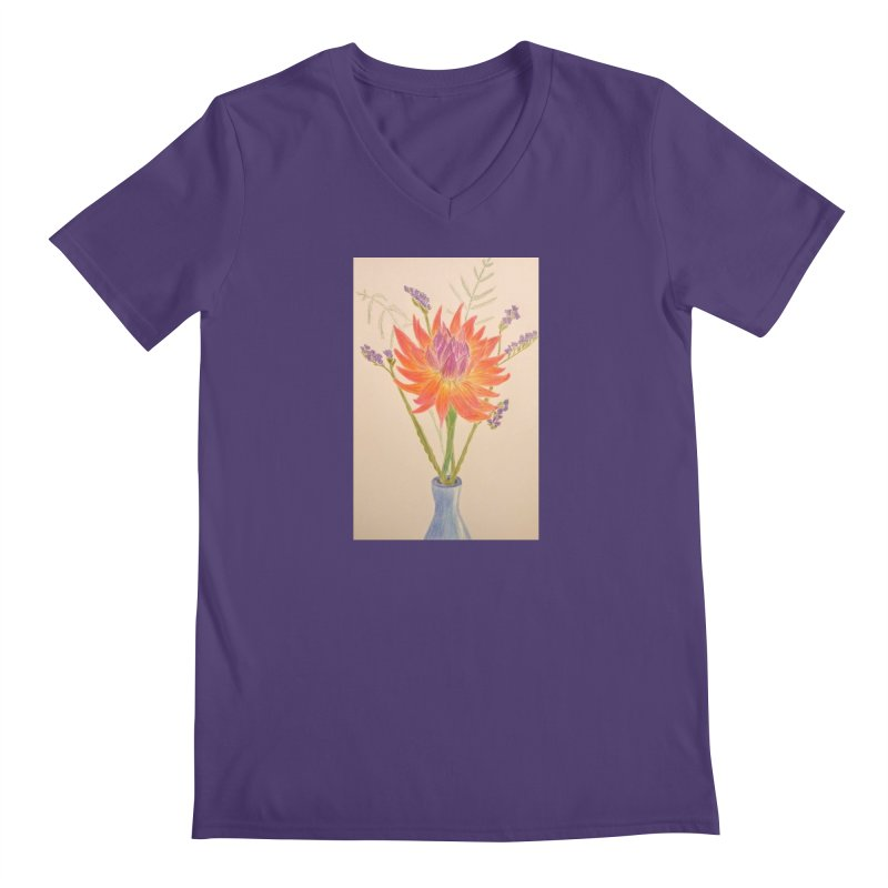 Flowers Men's V-Neck by Whimsical Wildlife Wares
