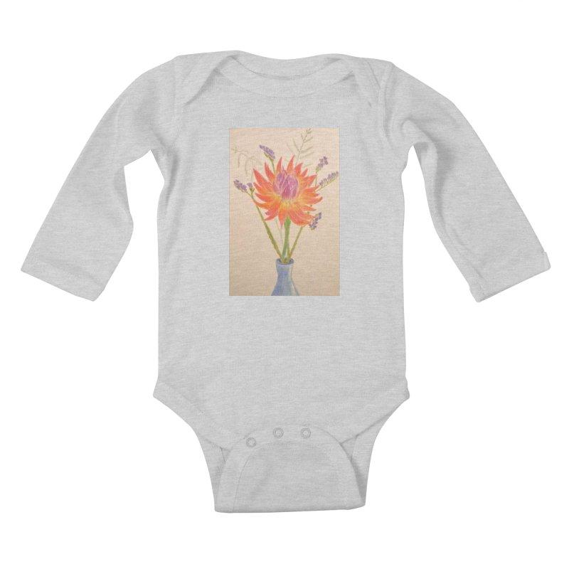 Flowers Kids Baby Longsleeve Bodysuit by Whimsical Wildlife Wares