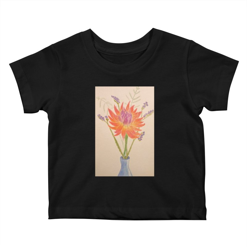 Flowers Kids Baby T-Shirt by Whimsical Wildlife Wares