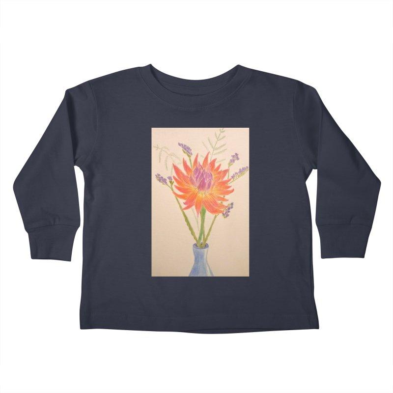 Flowers Kids Toddler Longsleeve T-Shirt by Whimsical Wildlife Wares