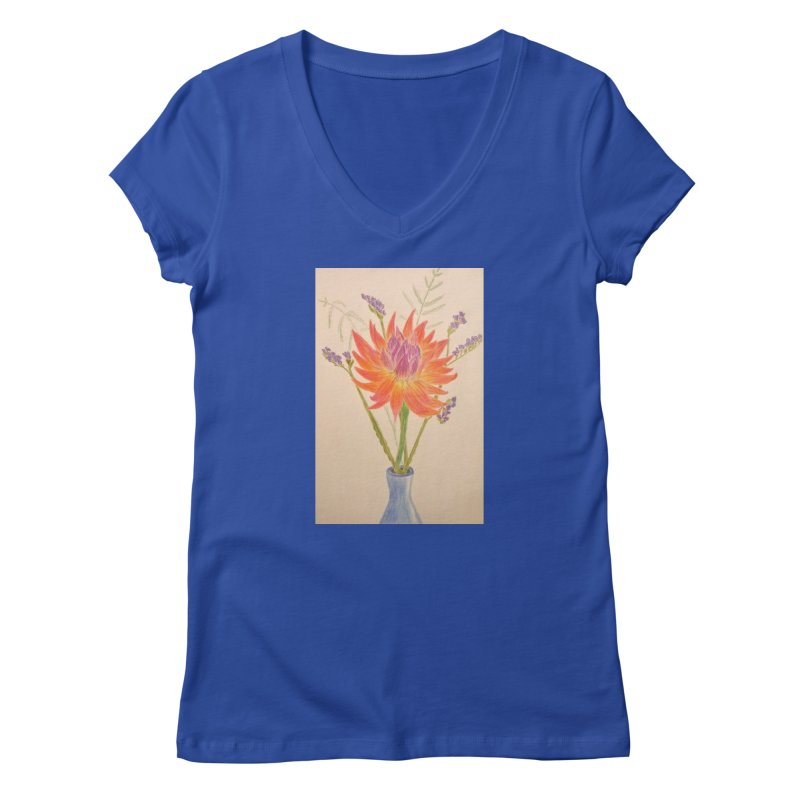 Flowers Women's V-Neck by Whimsical Wildlife Wares