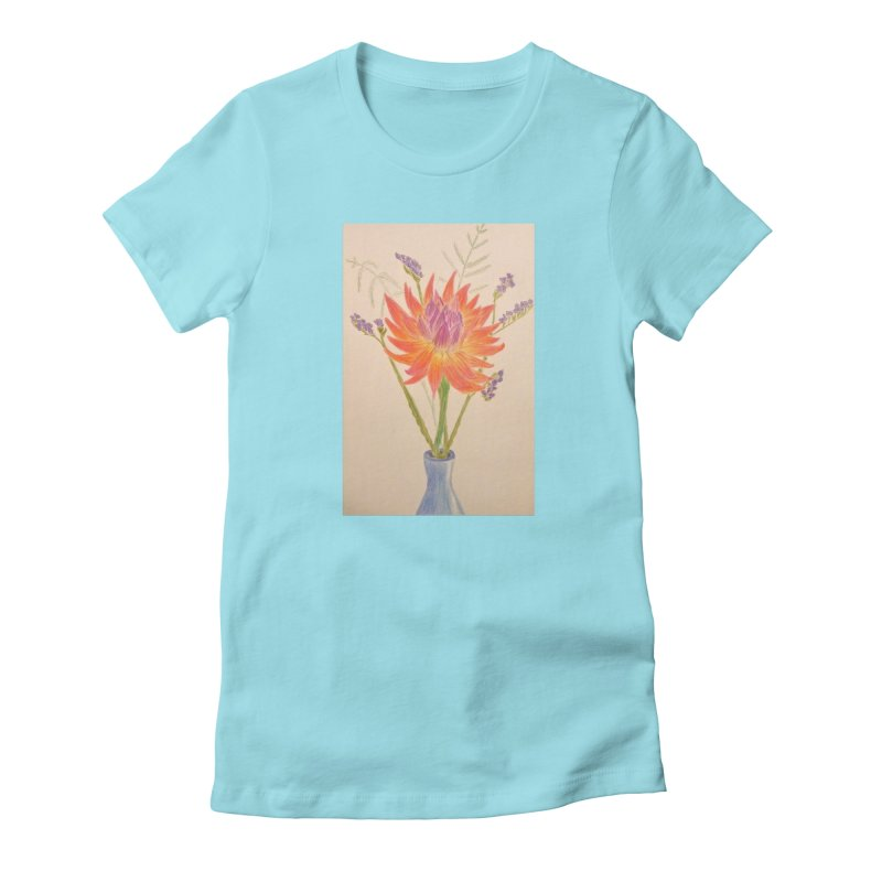 Flowers Women's Fitted T-Shirt by Whimsical Wildlife Wares