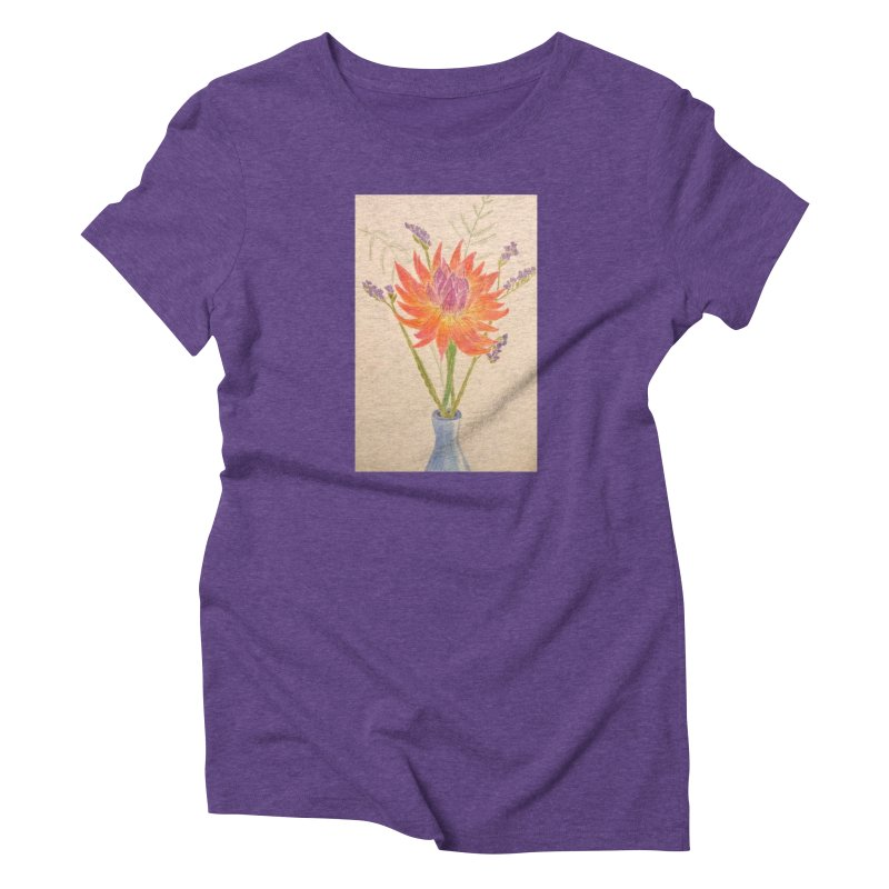 Flowers Women's Triblend T-shirt by Whimsical Wildlife Wares