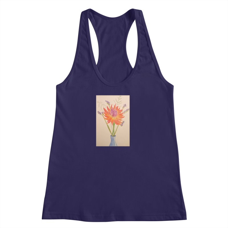 Flowers Women's Racerback Tank by Whimsical Wildlife Wares