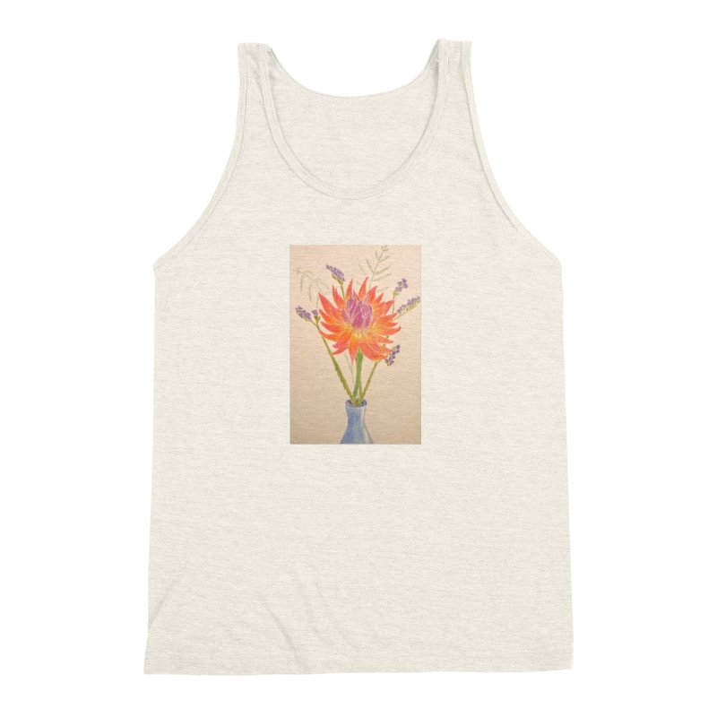 Flowers Men's Triblend Tank by Whimsical Wildlife Wares