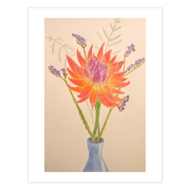 Flowers Home Fine Art Print by Whimsical Wildlife Wares