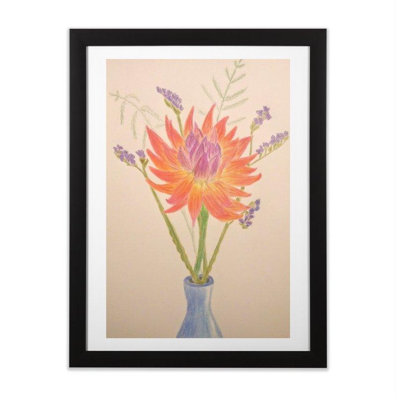 Flowers Home Framed Fine Art Print by Whimsical Wildlife Wares